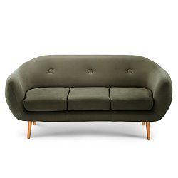 Olivově zelená trojmístná sedačka Scandi by Stella Cadente Maison