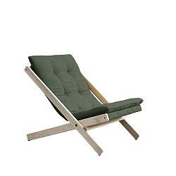 Olivově zelené skládací křeslo z bukového dřeva Karup Design Boogie Olive Green, 60 x 115 cm