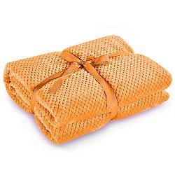 Oranžová deka z mikrovlákna DecoKing Henry, 70x150cm