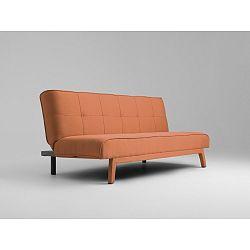 Oranžová rozkládací dvoumístná pohovka Custom Form Modes
