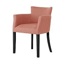 Oranžová židle s černými nohami Ted Lapidus Maison Santal