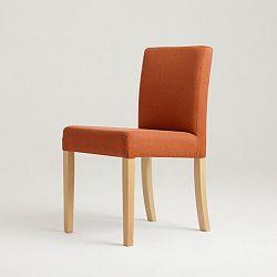 Oranžová židle s přírodními nohami Custom Form Wilton