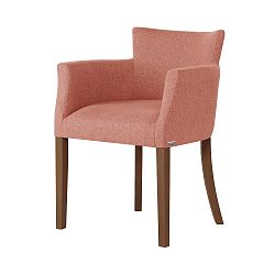 Oranžová židle s tmavě hnědými nohami Ted Lapidus Maison Santal