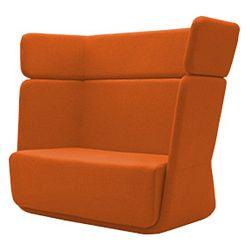 Oranžové křeslo Softline Basket Felt Mandarin