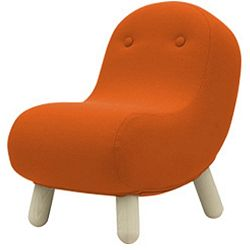 Oranžové křeslo Softline Bob Felt Mandarin