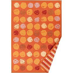 Oranžový vzorovaný oboustranný koberec Narma Veere, 70x140cm