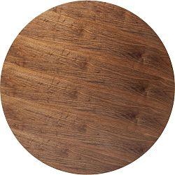 Ořechově hnědá deska pro stůl Kare Design Invitation Round, ⌀120cm