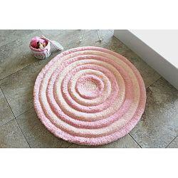Pastelově růžová koupelnová předložka Alessia Ecru, Ø 90 cm