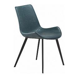 Petrolejově modrá koženková jídelní židle DAN-FORM Denmark Hype