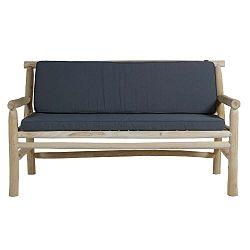 Pohovka z teakového dřeva s šedým sedákem Santiago Pons Capri