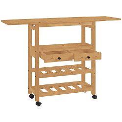 Pojízdný servírovací stolek z borovicového dřeva Støraa Nemo