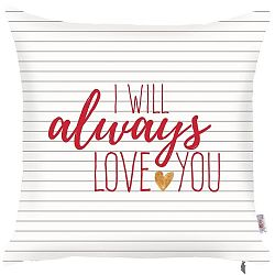 Povlak na polštář Apolena Always Love You, 43 x 43 cm
