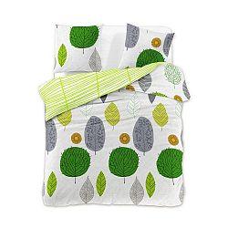 Povlečení z bavlněného saténu DecoKing Greenleaf, 200 x 220 + 2 povlaky na polštáře 75 x 50 cm