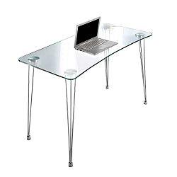 Pracovní stůl se skleněnou deskou Tomasucci, 60x120cm
