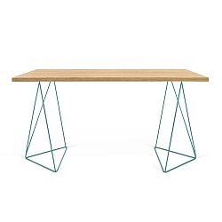 Pracovní stůl se zelenými nohami TemaHome Flow