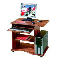 Pracovní stůl z ořechového dřeva na kolečkách Evergreen House Mini