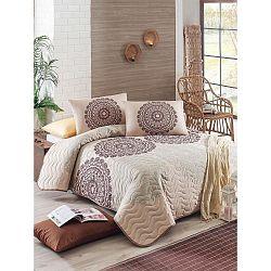 Přehoz přes postel na dvoulůžko s povlaky na polštáře Figura,200x220cm