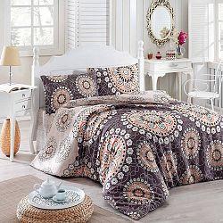 Přehoz přes postel na dvoulůžko s povlaky na polštáře Libra,200x220cm