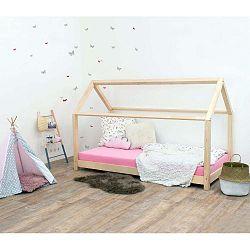 Přírodní dětská postel bez bočnic ze smrkového dřeva Benlemi Tery, 80 x 200 cm