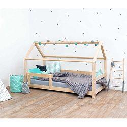 Přírodní dětská postel s bočnicemi ze smrkového dřeva Benlemi Tery, 90 x 190 cm