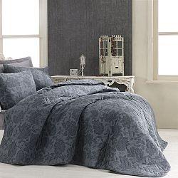Prošívaný přehoz přes postel se 2 povlaky na polštáře Jamie, 200 x 220 cm