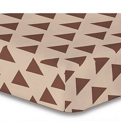 Prostěradlo z mikrovlákna DecoKing Triangles, 200 x 220 cm