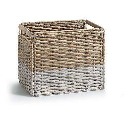 Proutěnný úložný box s bílým detailem La Forma Woody