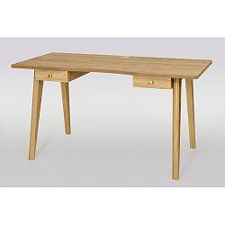 Psací stůl s přírodní deskou Woodman Nice