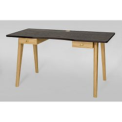 Psací stůl s tmavě šedou deskou Woodman Nice