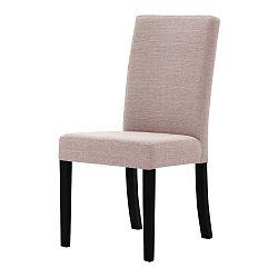 Pudrově růžová židle s černými nohami Ted Lapidus Maison Tonka
