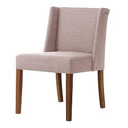 Pudrově růžová židle s tmavě hnědými nohami Ted Lapidus Maison Zeste