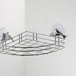 Rohová polička s přísavkami Tomasucci Dolphin