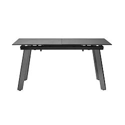 Rozkládací černý jídelní stůl Marckeric Libra