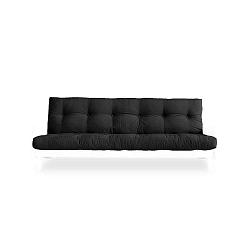 Rozkládací pohovka s tmavě šedým potahem Karup Design Indie White/Dark Grey