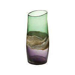 Ručně vyráběná křišťálová váza Santiago Pons Forest, výška30cm