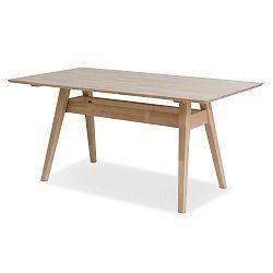 Ručně vyráběný jídelní stůl z masivního březového dřeva Kiteen Notte, 75x140cm