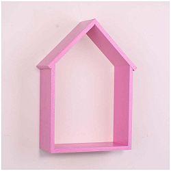 Růžová dřevěná nástěnná polička North Carolina Scandinavian Home Decors House