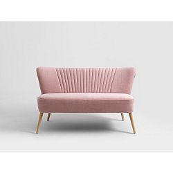 Růžová dvoumístná pohovka Custom Form Harry