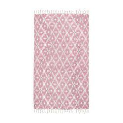 Růžová hammam osuška Kate Louise Calypso, 165x100cm