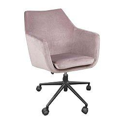 Růžová kancelářská židle Actona Nora