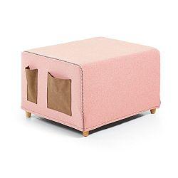Růžová rozkládací postel La Forma Kos, 70x180cm