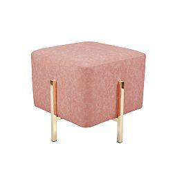 Růžová stolička / puf 360 Living Liani