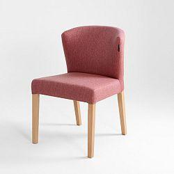 Růžová židle s přírodními nohami Custom Form Harvard