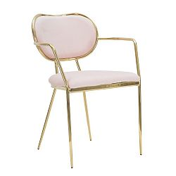 Růžová židle železnou konstrukcí Mauro Ferretti Sedia Glam