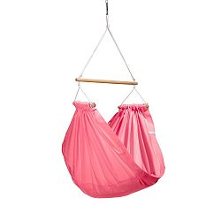 Růžové houpadlo z bavlny se zavěšením do stropu Hojdavak Junior, 3-10let