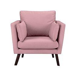 Růžové křeslo Mazzini Sofas Cotton