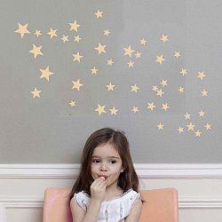 Růžové nástěnné samolepky Art For Kids Stars
