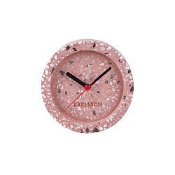 Růžové stolní hodiny s budíkem Karlsson Tom