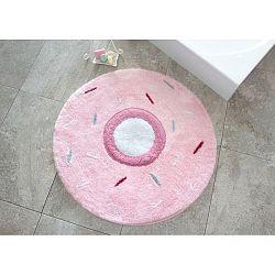 Růžový koberec ve tvaru koblihy Alessia, Ø 90 cm