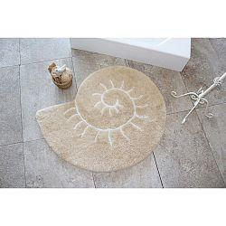 Růžový koberec ve tvaru šneka Alessia, Ø 90 cm